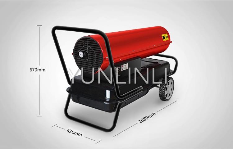 Ventilateur Diesel industriel de chauffage à l'huile Diesel pour l'usine, la ferme d'élevage, les fruits et légumes utilisant la Machine de ventilateur d'air chaud SPRY-50 - 6