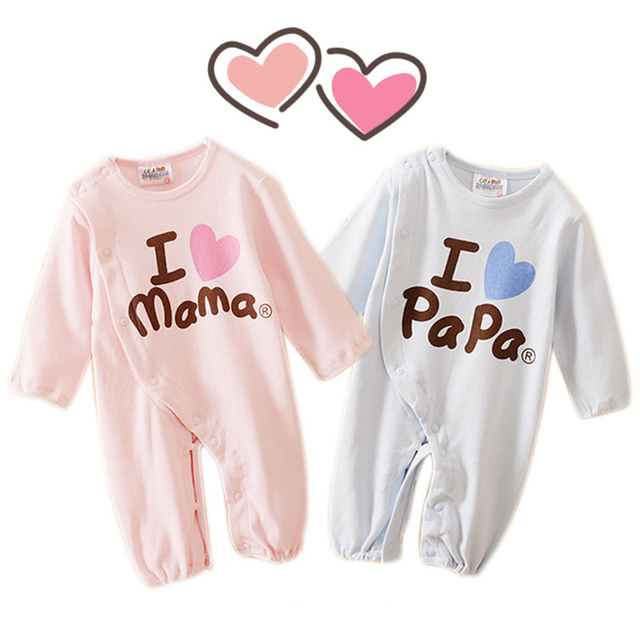 Baby Strampler Liebe Mama & Papa Jungen Mädchen Kleidung 4 Farben ...