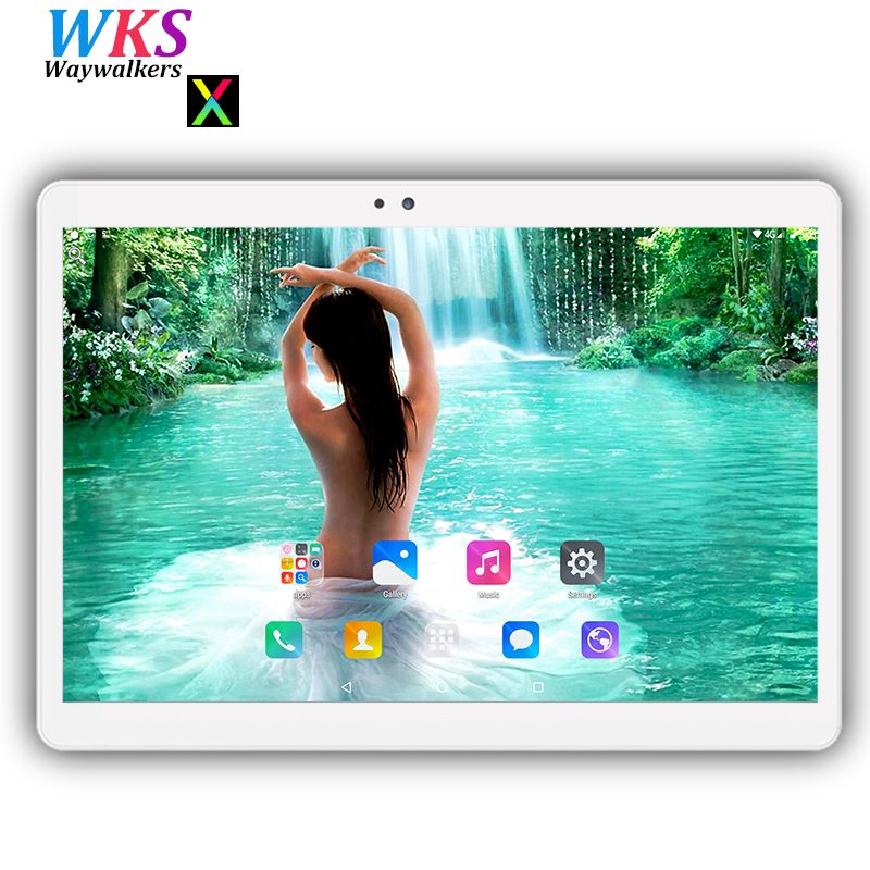 Free shipping 10 inch tablet PC Android 7.0 Phone call octa core 4GB+64GB Dual SIM card WIFI Bluetooth Smart phablets pcs MT8752