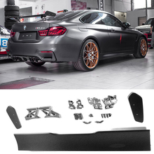 купить M4 GTS Style Carbon Fiber Rear Trunk Wing Spoiler for BMW F80 M3 F82 M4 Coupe F87 M2 Auto Racing Car Styling Bodykit Tail Wing дешево