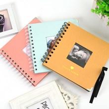 DIY Photo Album Lovers Birthday Gifts Wedding Baby Scrapbook Manual Kraft Printing Metal Corner Family