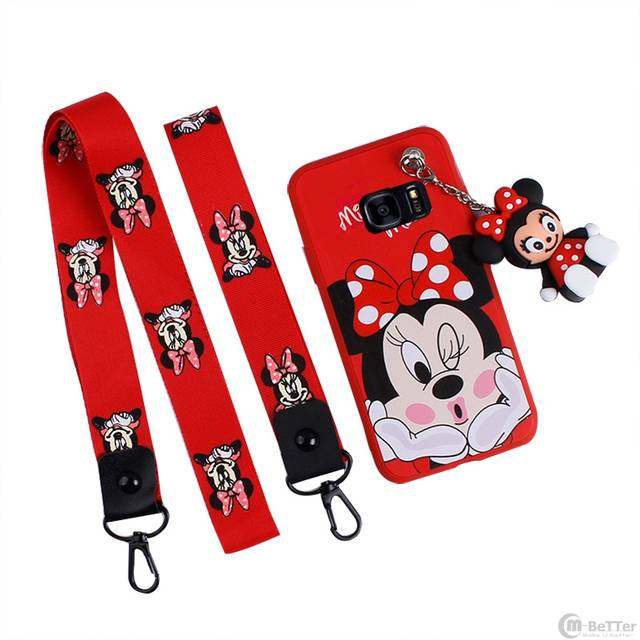 e388f17376 Online Shop For Samsung Note 8 case cute Mickey phone cover Galaxy S6/S7 edge  cartoon Minnie mouse note 5 couple shell + strap + toy holder | Aliexpress  ...
