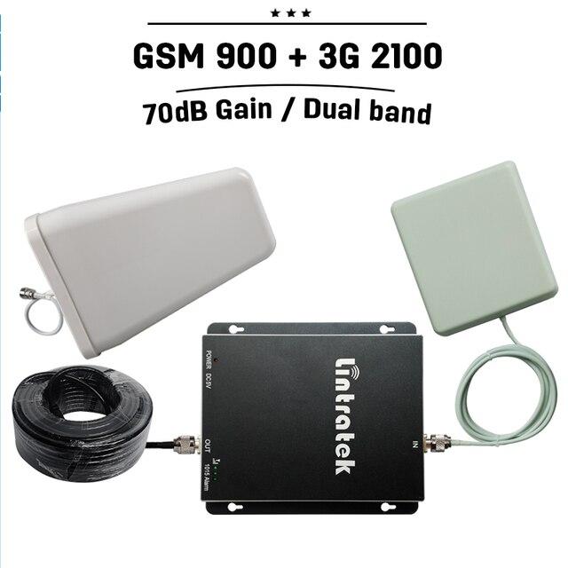 Россия Испания 70дб Усиления GSM 900 3 Г WCDMA 2100 Dual Band сотовый Телефон Booster GSM 900 мГц 3 Г UMTS Мобильный Gsm Репитер усилитель