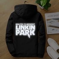 Cap as Gift S to 7XL plus size Light reflective linkin park men women jacket hip hop Rapper dancer windbreaker hooded coat