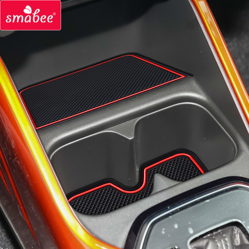 Smabee Gate Slot Pad For SUZUKI IGNIS Interior Door Pad/Cup Dust Mats Water Coaster Non-slip  RED/WHITE/BLACK