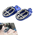 Blue CNC Billet Pro-Bite Wide Foot Pegs For Yamaha YZ85 1998-2015 YZ125 YZ250 1999-2015 YZ250F 2001-2015 YZF250FX 2015