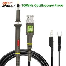 ATORCH Oszilloskop Sonde Kit DC-40MHz 100MHz Scope Clip Test Sonde Für Tektronix HP X1/X10 Hohe Qualität osciloscopio großhandel