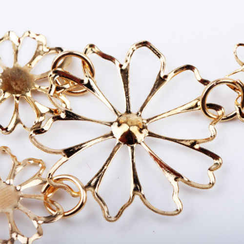 สตรีโรแมนติกสร้อยคออารมณ์สร้อยคอดอกไม้ Charm เครื่องประดับ Collares Bijoux Femme Camellia ขายส่ง