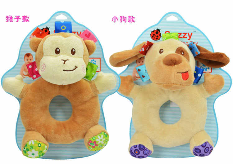 เด็กทารก Rattles hang ringing วงกลมสุนัขสัตว์น่ารักกบวัวทารกรถเข็นเด็กทารกของเล่น 0-12 เดือน plush ทารกแรกเกิด