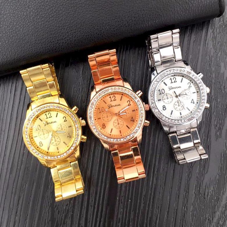 Relogio Feminino Women Watch Rose Gold Silver Fashion Women Bracelet - Կանացի ժամացույցներ - Լուսանկար 4