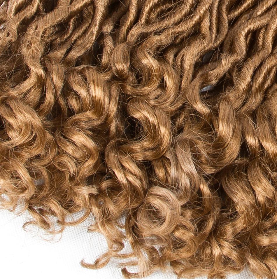aigemei крючком волосы глубокий ЛПДС косы синтетических богиня ЛПДС наращивание волос 18 дюймов