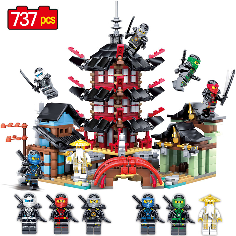2018 Ninjagoes Movies Bricks Compatible legoing Ninjago Temple 737+pcs DIY Building Block Sets Educational Toys For Children