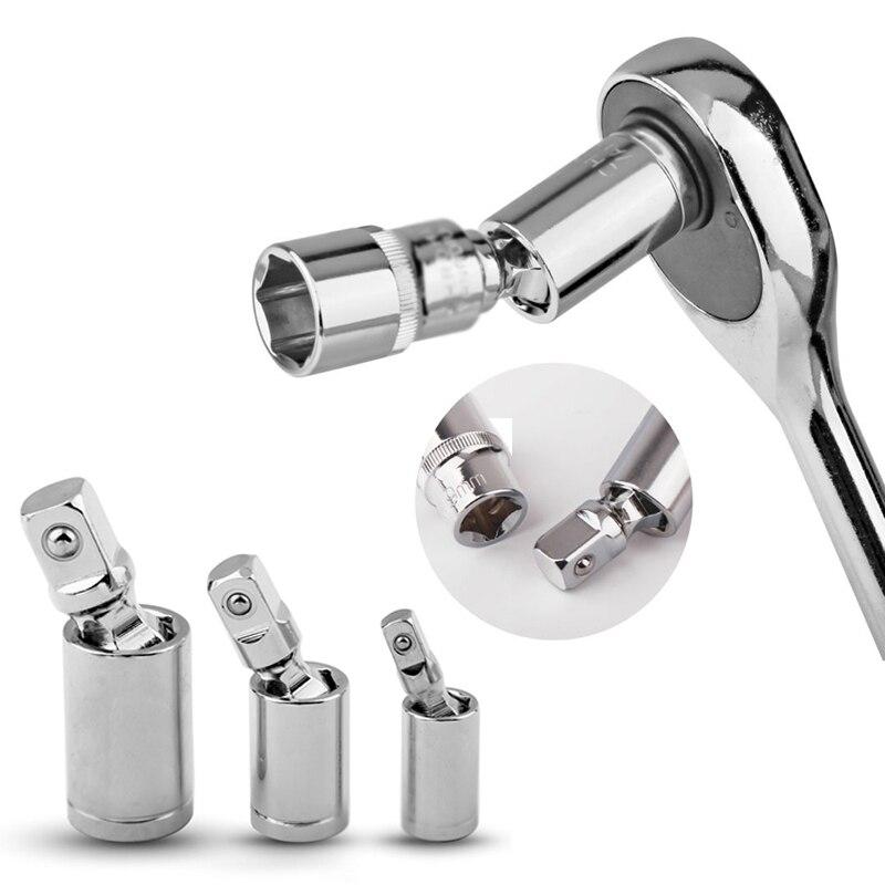 1/4 3/8 1/2 Universal Joint Set Ratsche Winkel Verlängerung Bar Buchse Adapter