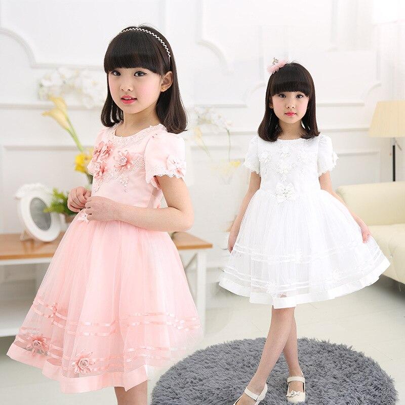 ФОТО Beautiful Girls Evening Dress Children  girl dance  dress 2016 children Mesh Princess Dresses