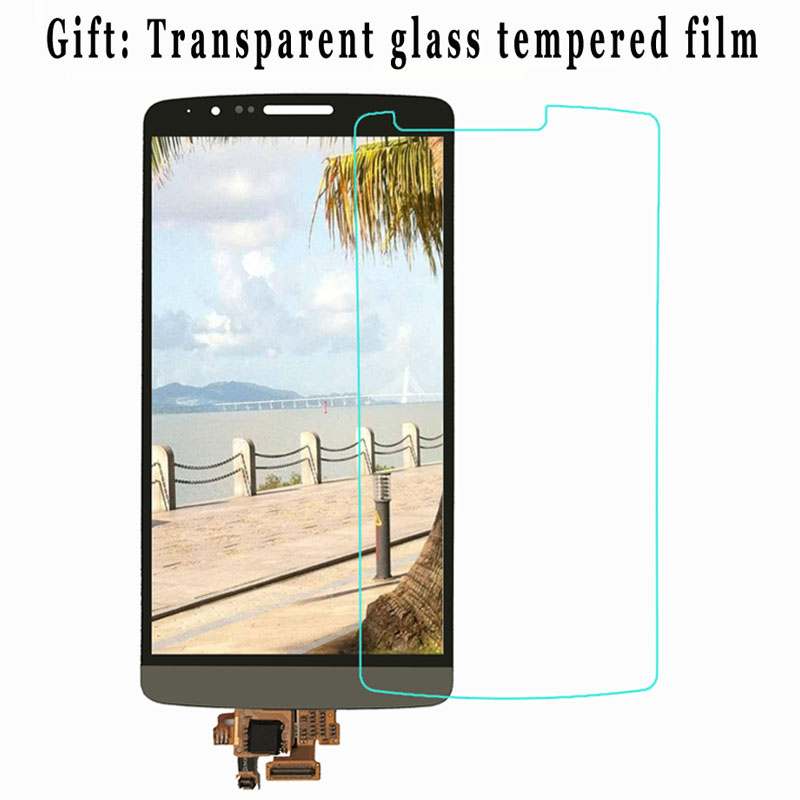 Black White Gold For LG G3 D850 D851 D855 VS985 LS990 Touch Screen LCD Display With Frame