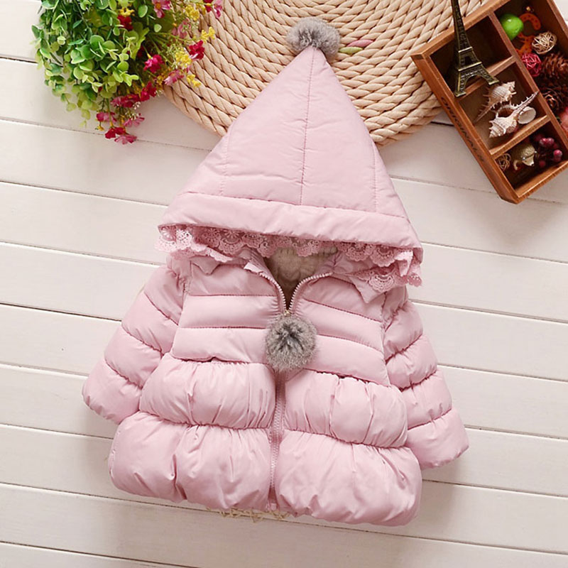 цены Thick Hooded Jacket For Newborns Baby Girl Warm Autumn Winter Toddler Coats Outerwear Clothing Child Kids Girl Down Coat 1-4T