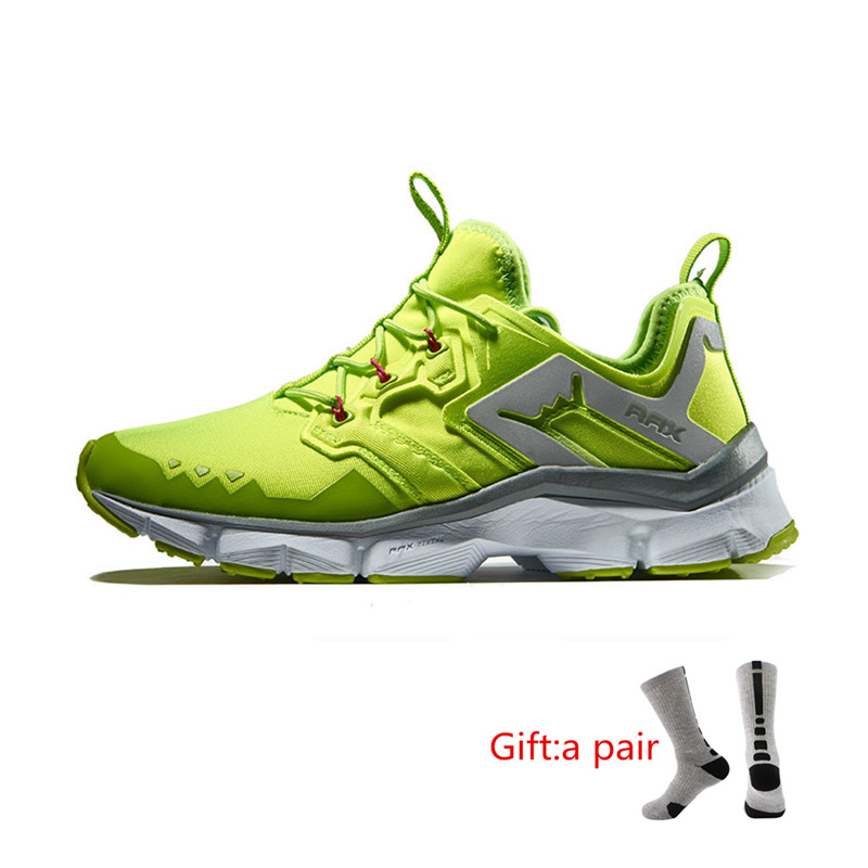 RAX Men's Cushioning Running Shoes Safe for Night Running Outdoor Sports Sneakers Trail Road Cross-Country Running with gift trail running