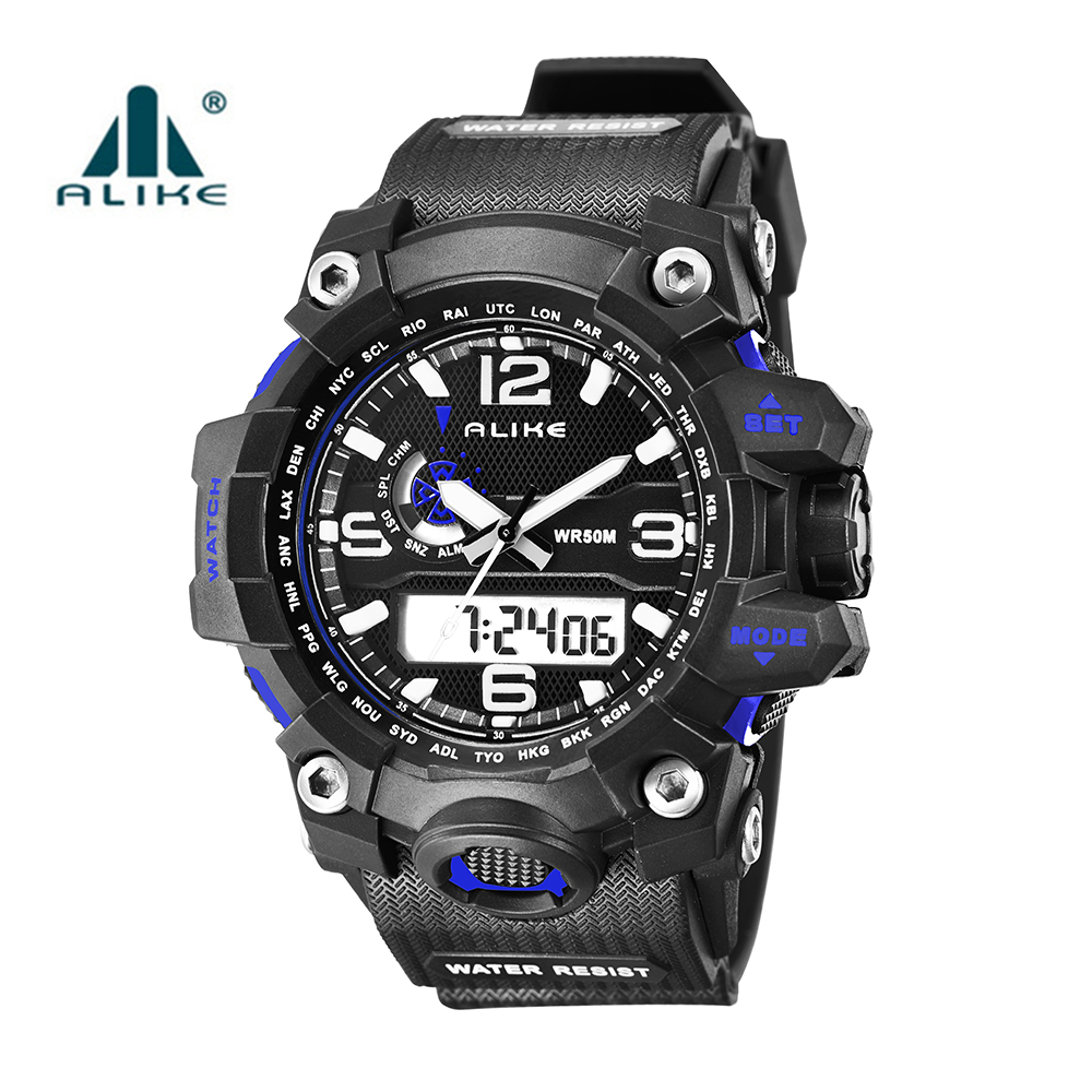 LED Digital Army Military Watch 2016 New Hot Alike Brand Men 50M Dive Swimming Sports Watches Outdoor Wristwatches montre homme