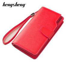 купить Free shipping new fashion women wallet leather brand wallets women wholesale lady purse High capacity clutch bag for women gift дешево
