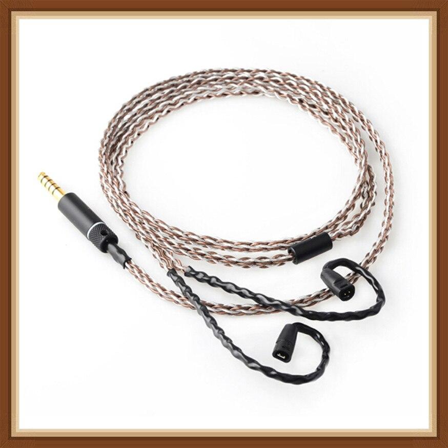 Câble pour écouteurs OKCSC 7N IE80 pour Sennheiser cuivre argent plaqué 2.5mm/3.5mm/4.4mm fiche équilibrée type-c pour la foudre