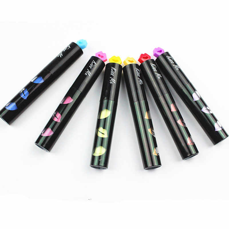 36 шт./лот мини Красочные Губы хайлайтеры сексуальный поцелуй штамп ручка