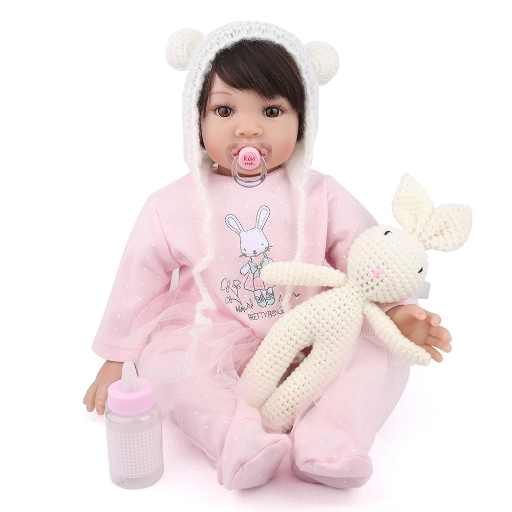 NPK DOLL Reborn baby Doll lifelike realistic babe boneca menina silicone girl 22 inch cute beautiful