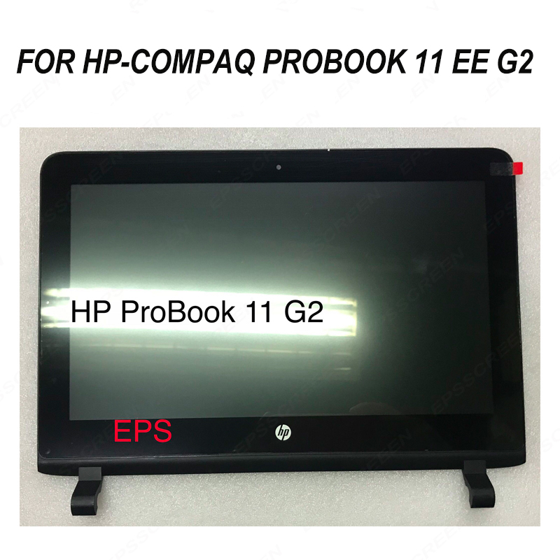 replace for HP Compaq Probook 11 EE G2 touch digitizer panel + Lcd screen+ BEZEL FRAME repair 11.6 inch KD116N05 DISPLAY