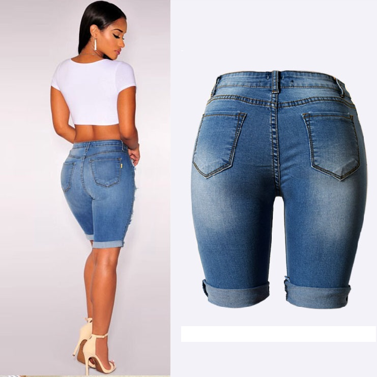 Plus Size Short Length Jeans | Bbg Clothing
