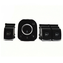 Fast shipping new hight quality Mirror&Window Switch for VW Eos Golf Mk5 MK6 GTI RIBBIT R32 5K3 959 857 5ND 959 565B 5ND 959 855
