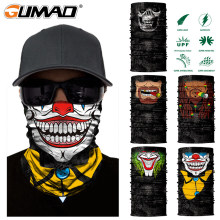 3D Skull Clown Seamless Magic Neck Gaiter Face Shield Warm Outdoor Cycling Fishing Biker Bandana Headband Scarf Men Women Mask(China)