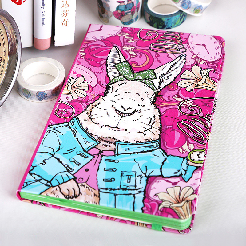 все цены на A5 Planner Cartoon Kawaii Rabbit Hard Cover Thickening Notepad Office School Supplies Conference Book Notebook Stationery онлайн
