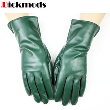 New sheepskin gloves women's straight-line style wool lining color warm autumn a