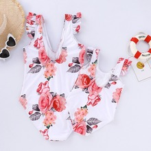 Floral Family Swimsuits Mommy and Me Clothes Mother Daughter Swimwear Mom and Girls Matching Dress Beachwear Bikini Outfits Look family swimsuits mommy and me clothes mother daughter swimwear floral bathing suits mom girls matching outfits bikini dress look