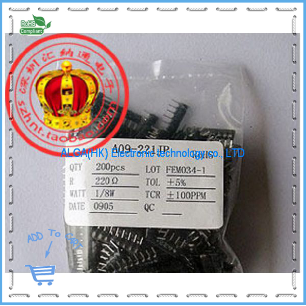 Free shipping .220R 9 pin DIP exclusion exclusion 9P 1/8W 220 A09-221 9A221.