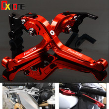 Motorcycle Folding Extendable Motorbike Brake Clutch Levers 7 Colors Up with logo Set For BMW F800GS 2008-2016 2014 2015