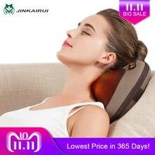 JinKaiRui Vibrating Kneading Neck Body Massager Hammer Pillow Infrared Shiatsu Electric Shoulder Back Massage Massagem Car