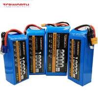 Juguetes RC batería LiPo 4S 14,8 V 10000mAh 12000mAh 16000mAh 22000mAh 25C 35C para avión quadrotor RC aviones Drone barco del coche