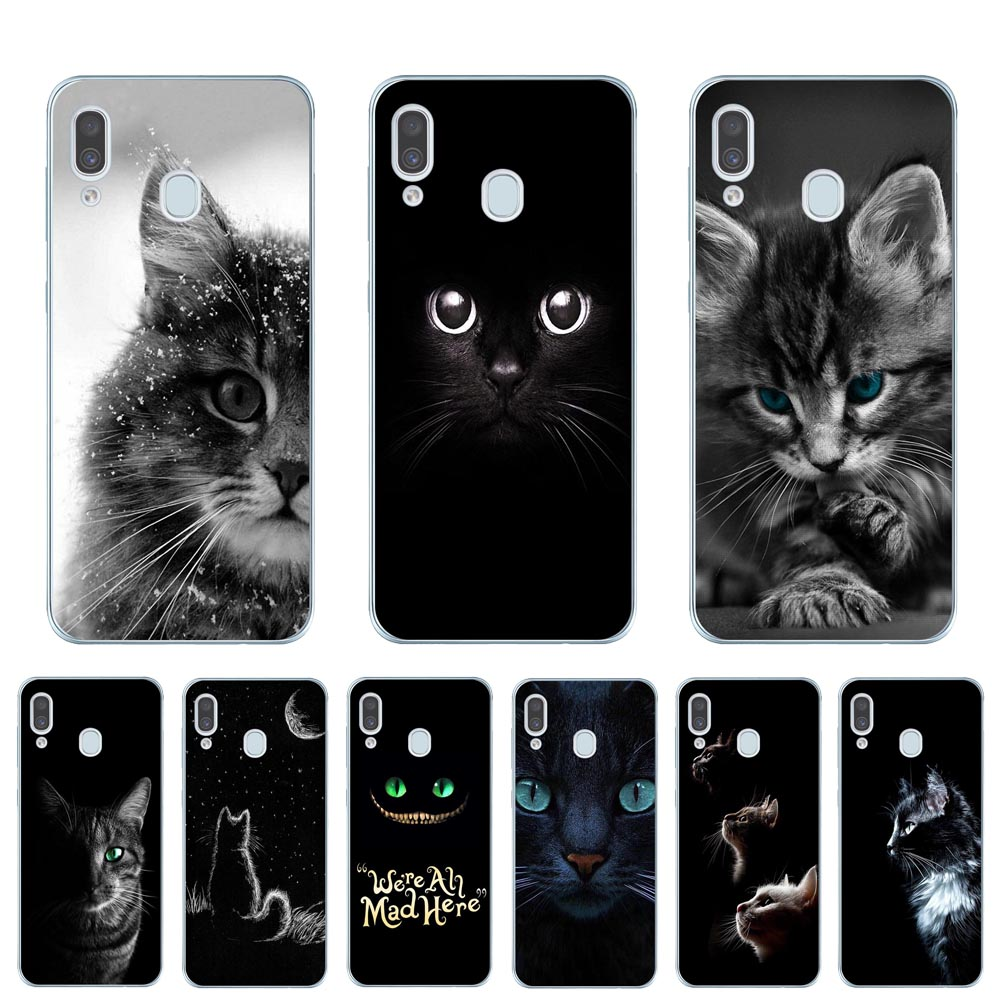 Cool Cat Soft TPU Phone Case Cover For <font><b>Coque</b></font> <font><b>Samsung</b></font> A10 A20 A30 A40 A50 A60 <font><b>A70</b></font> A80 <font><b>2019</b></font> A6 A8 Plus A7 A9 2018 Silicone Cases image