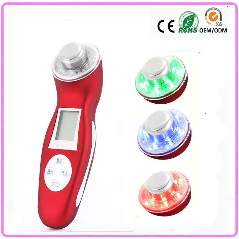 Deep Pores Cleaning Pigment Removal 3mhz Ultrasound Sonic Ionic Photon Facial Rejuvenation Skin Care Beauty Device anti acne pigment removal photon led light therapy facial beauty salon skin care treatment massager machine