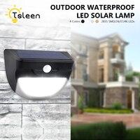TSLEEN 4x Promotion Waterproof LED Luminaria Solar Light Outdoor Garden Light PIR Motion Sensor Solar Lamp