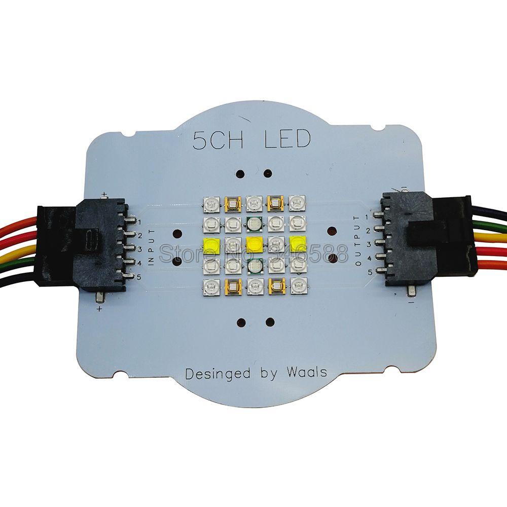 Personnalisé 5 Canal 25 LED Aquarium LED Émetteur Lampe Lumière Perles DIY XPE2 XP-E XTE Semileds UV Mer Poissons Corail grandir Éclairage LED