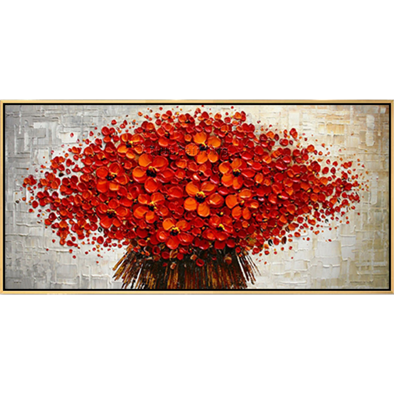 Canvas Painting palette knife 3D texture acrylic Flower painting Wall - Home Decor - Photo 6