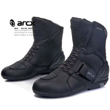 ARCX Mens Motorcycle Boots Genuine Cow Leather Waterproof Street Moto Racing Boots Motorcross Boots Motorbike Boots