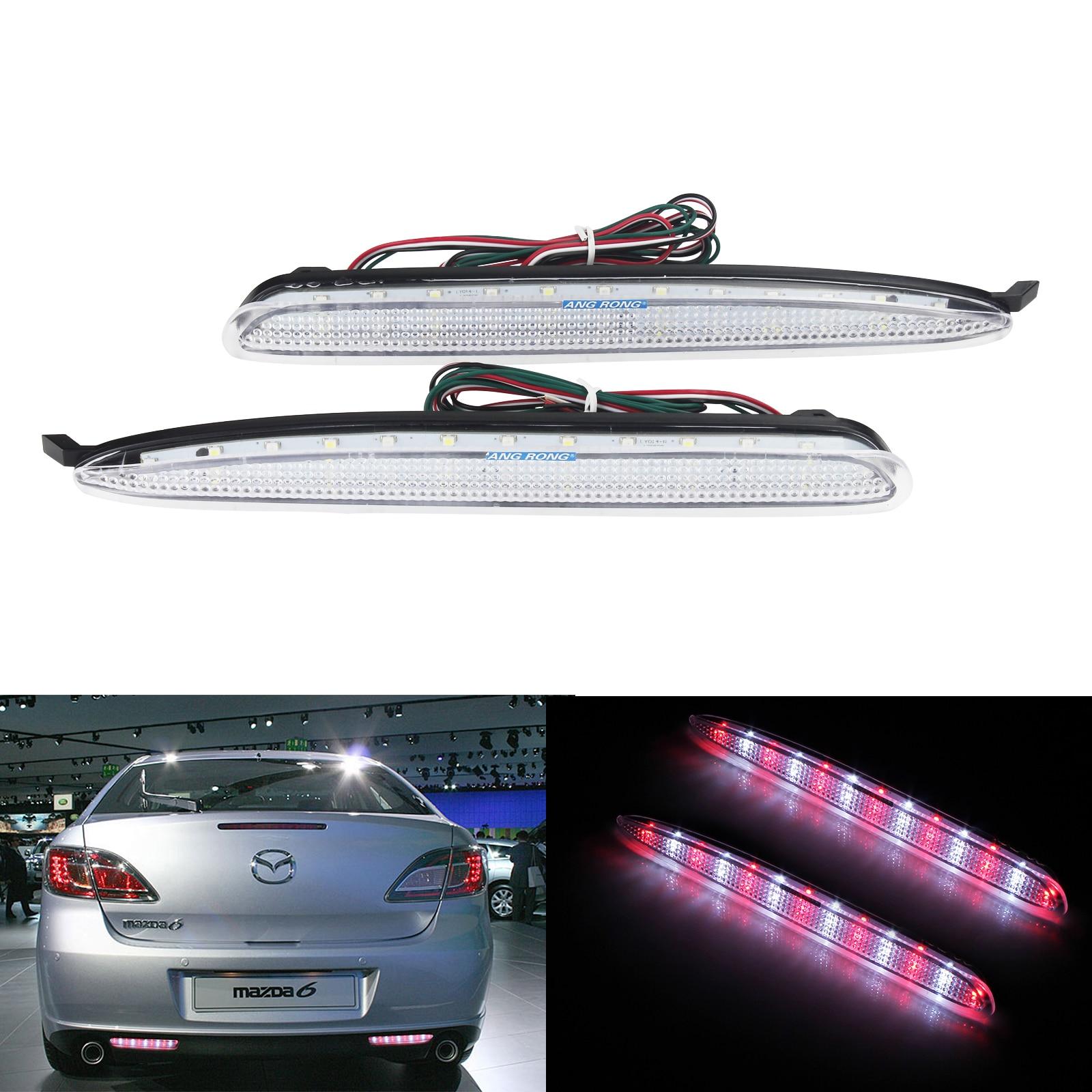 2x Tail LED Lens Bumper Reflector Brake Stop Light For Hyundai Sonata 8th