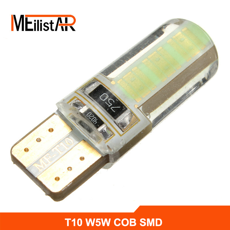Newest T10 W5W LED car interior light cob marker lamp 12V 194 501 SMD bulb wedge parking dome light canbus auto car styling cnsunnylight 10pcs canbus t10 w5w 168 194 smd led car wedge side mini bulb lamp for car tail parking dome door map light 5500k