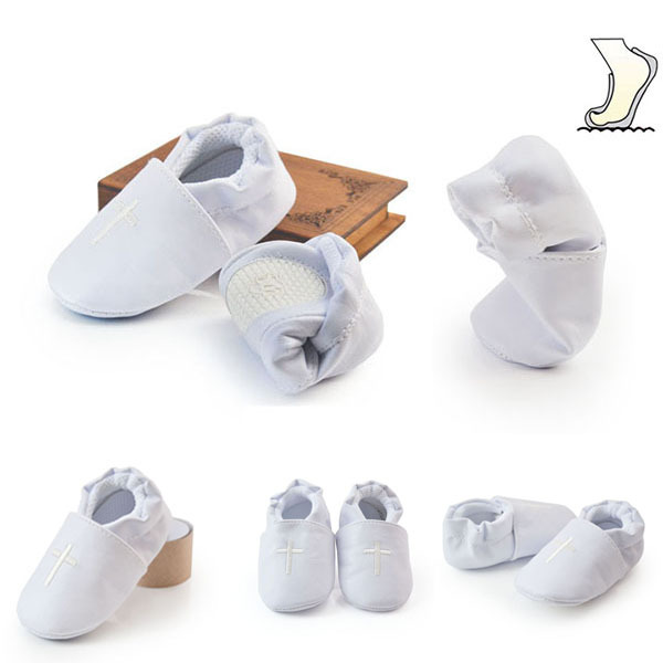 Baby Boy Girl Cross Baptism Christening Shoes Church Soft Sole Leather Shoes Free Shipping