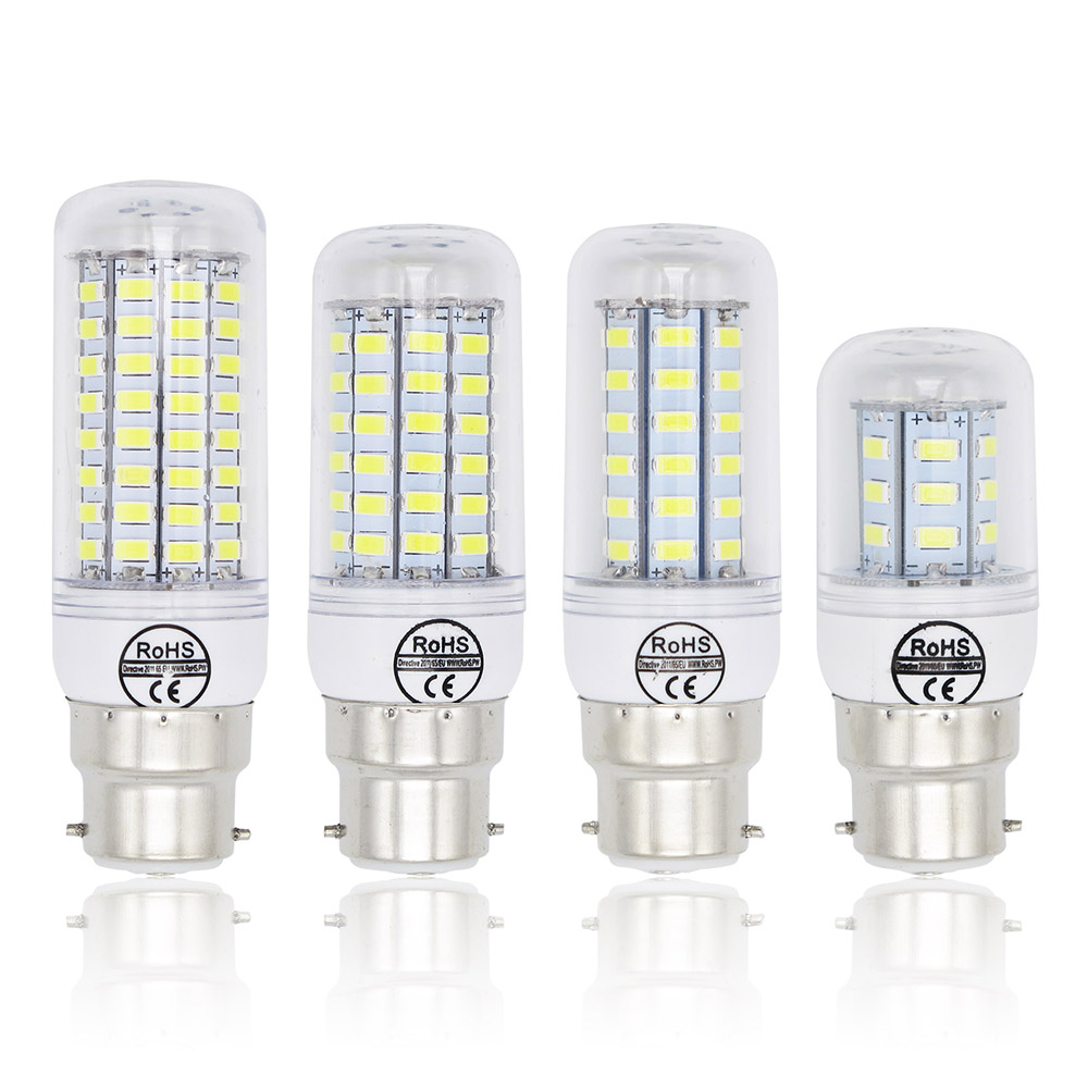 Lampada B22 Led Bulbs 240v 220v 7W 12W 15W 20W Light Bulb 72x 5730 SMD 30W Cold Warm White Led Spotlight Lamp
