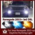 Guang Dian 2 PCS carro levou luz azul Branco vermelho rosa Lâmpadas LED Drl Daytime Running Luz Para Jeep Renegado 2015-up