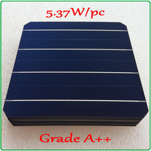 Mono solar cell 21.6% high-efficiency A++ 5.37W/pc monocrystalline solar cell +enough PV Ribbon 60m tab wire and 5m busbar wire