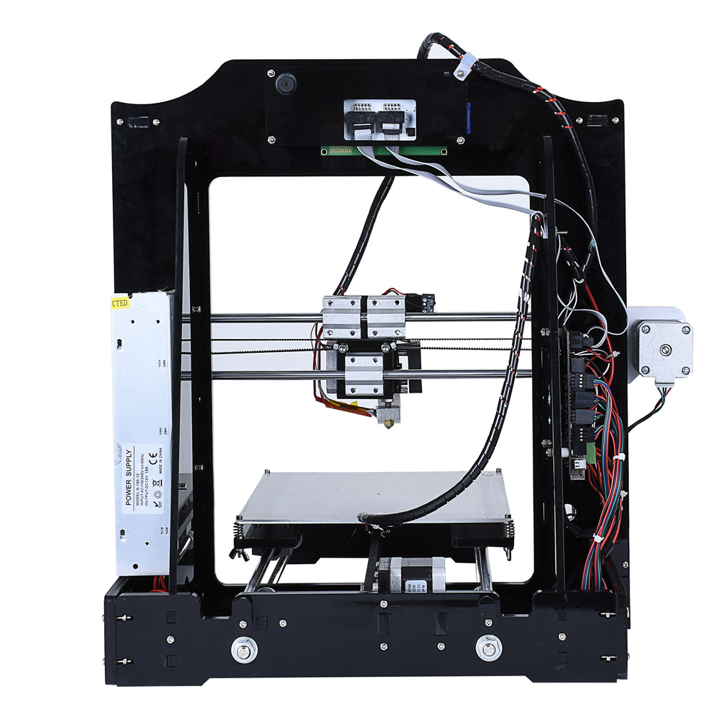 US $185 0 |Infitary High Precision Reprap 3d printer kits Acrylic frame  impresora 3d Open source Marlin firmware Support refitting-in 3D Printers  from